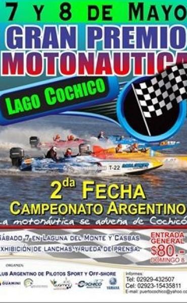 ESTE DOMINGO GRAN PREMIO DE MOTONÁUTICA EN COCHICÓ