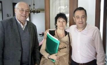 AUTORIDADES TRESLOMENSES EN ALMUERZO DE TRABAJO CON FINOCCHIARO