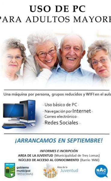SE DICTARAN CLASES DE USO DE PC PARA ADULTOS