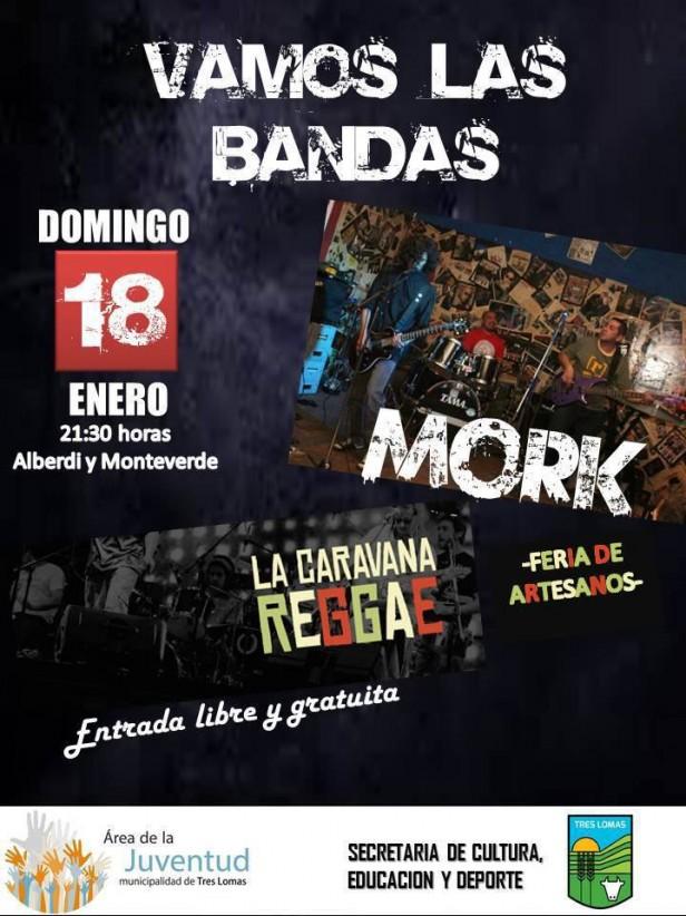 ORGANIZAN ENCUENTRO DE BANDAS DE ROCK Y REGGAE