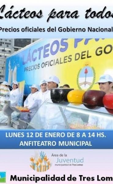 LLEGA EL CAMIÓN DE LACTEOS PARA TODOS