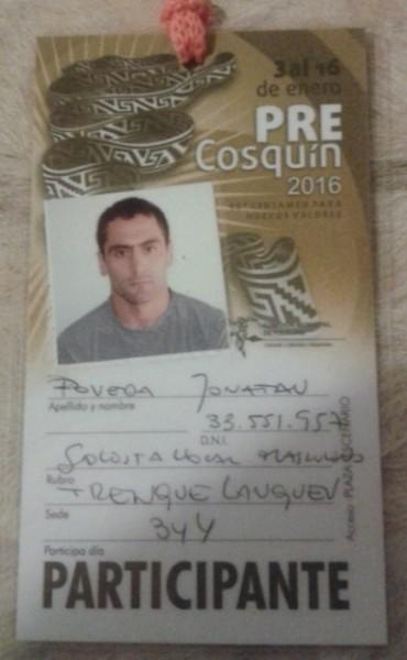 JONY POVEDA CANTO EN COSQUIN. DIJO QUE
