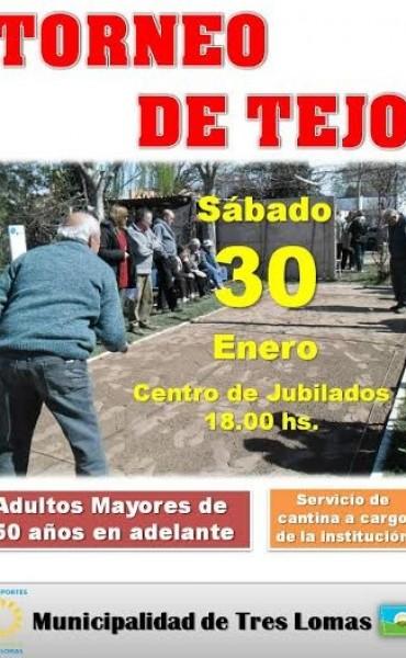 TORNEO DE TEJO EN EL CENTRO DE JUBILADOS