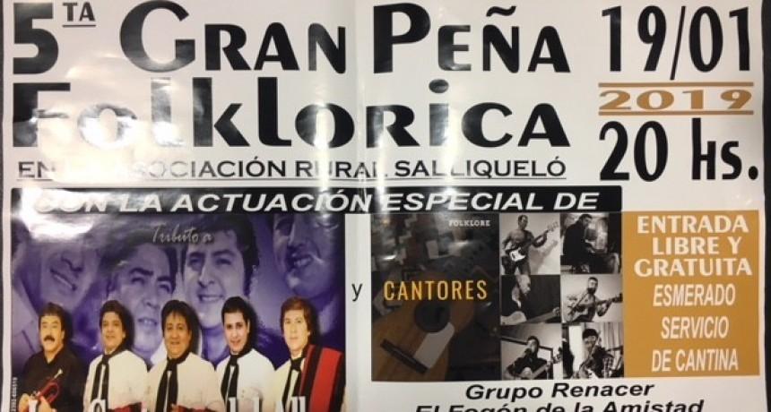 REALIZAN LA 5º PEÑA FOLKLORICA CON LA PRESENTACION DE LOS CANTORES DEL ALBA
