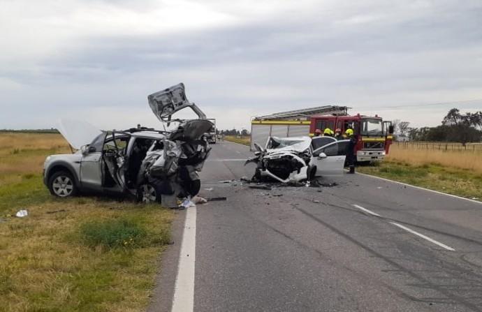 FUERTE ACCIDENTE EN RUTA 5, ENTRE CATRILÓ Y PELLEGRINI