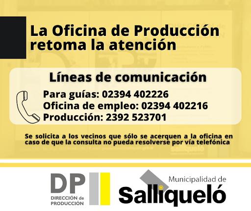 LA OFICINA DE PRODUCCIÓN RETOMA LA ATENCIÓN