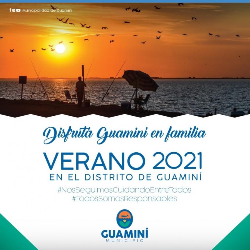 VERANO 2021 EN GUAMINÍ: TARIFAS VIGENTES EN LOS BALNEARIOS