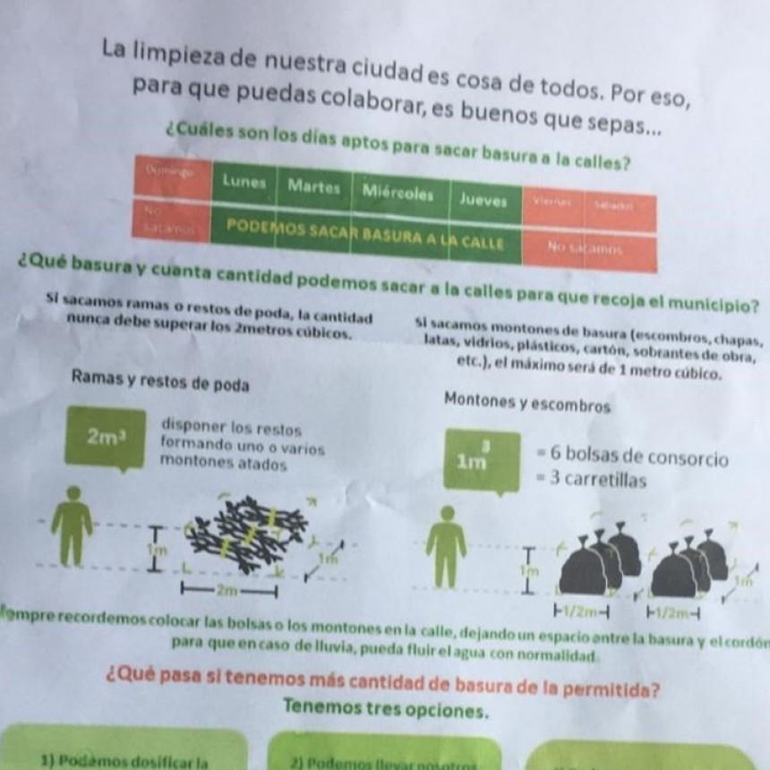 LA MUNICIPALIDAD INICIO UNA CAMPAÑA PARA MEJORAR LA LIMPIEZA DE LA CIUDAD