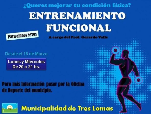 COMENZARON LAS CLASES DE ENTRENAMIENTO FUNCIONAL