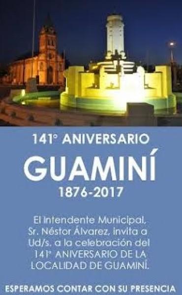 SE ACERCA EL 141° ANIVERSARIO DE GUAMINÍ CON DIVERSAS PROPUESTAS