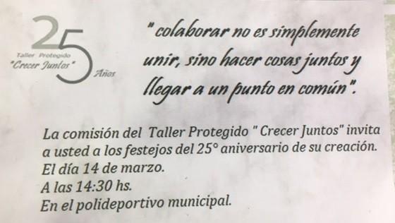 EL TALLER PROTEGIDO CUMPLE 25 AÑOS