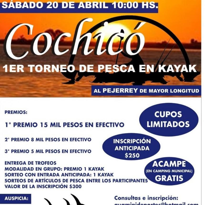ORGANIZAN EN COCHICO EL PRIMER TORNEO DE PESCA EN KAYAK AL PEJERREY DE MAYOR LONGITUD