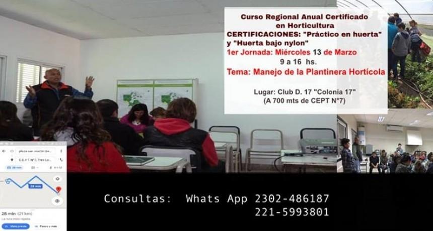COMIENZA CURSO DE HORTICULTURA EN EL CEPT 7
