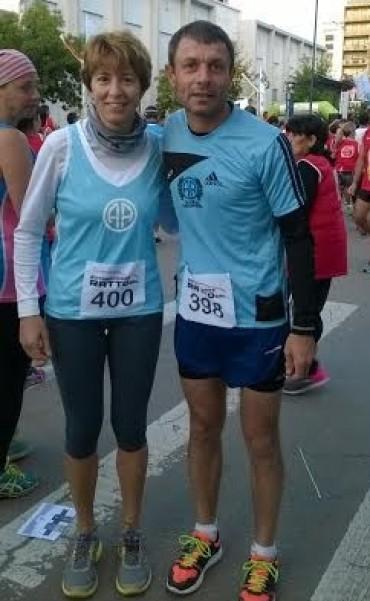 ELITA BELLERA Y JOSE SANCHEZ PARTICIPARON DE LA 32º MARATON A PAMPA TRAVIESA.