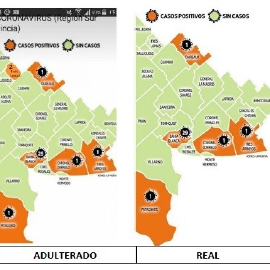 ¿MALA INTENCION?: DISTRIBUYEN MAPA ADULTERADO CON CASOS DE COVID EN TRES LOMAS
