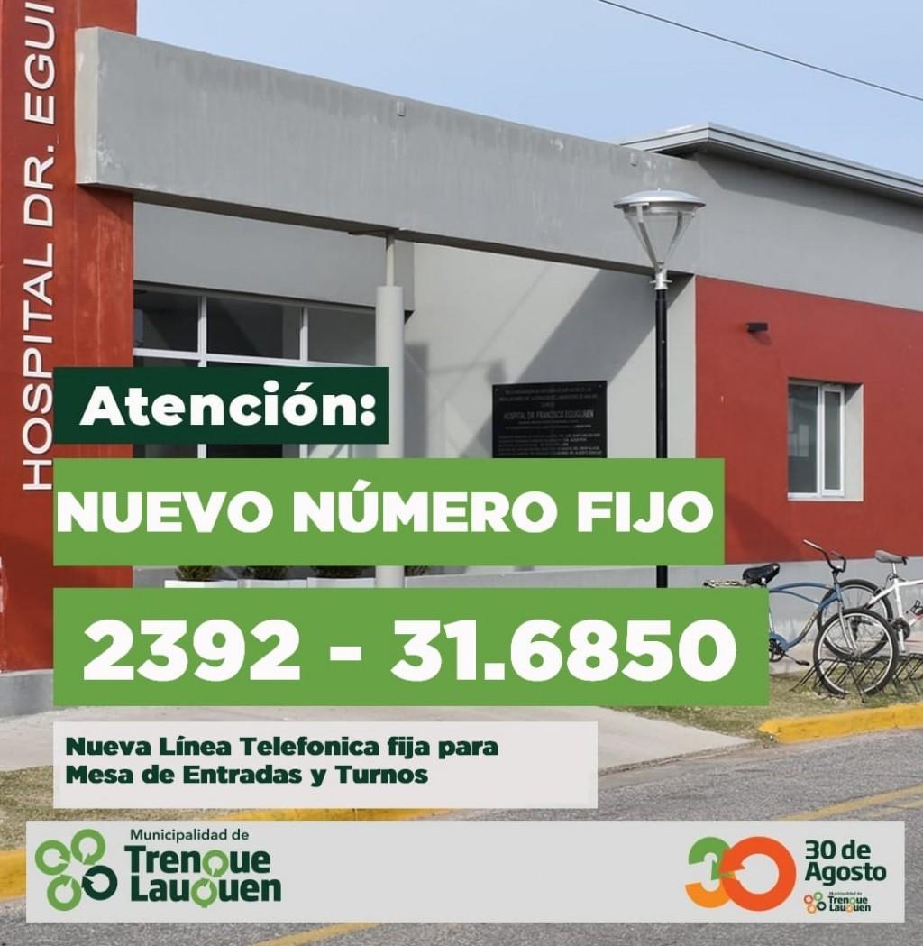 EL HOSPITAL MUNICIPAL INFORMA NUEVA LÍNEA TELEFÓNICA