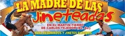 GRAN FESTIVAL DE MUSICA Y JINETEADA EN CARLOS TEJEDOR. MIGUEL AVIT ES EL VENDEDOR DEL ABONO EN TRES LOMAS Y AL ZONA.
