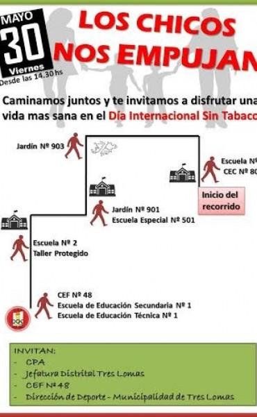 CAMINATA POR EL DIA INTERNACIONAL SIN TABACO