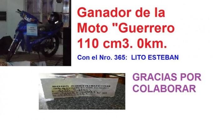 LITO ESTEBAN GANO LA MOTO EN LA PEÑA DEL JARDIN