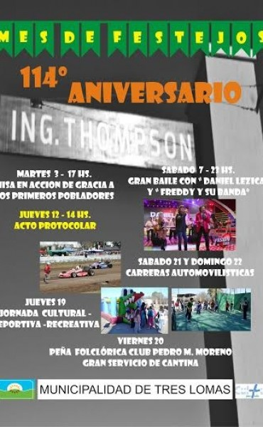 INGENIERO THOMPSON CUMPLE 114 AÑOS