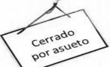 EL LUNES SERA NO LABORABLE PARA LA ADMINISTRACION PUBLICA Y BANCO PROVINCIA. HABRA CLASES NORMALMENTE.