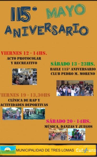 ACTIVIDADES POR EL 115º ANIVERSARIO DE INGENIERO THOMPSON