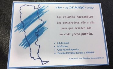 LA CELEBRACION DEL 25 DE MAYO SE REALIZA EN LOS AGRARIOS