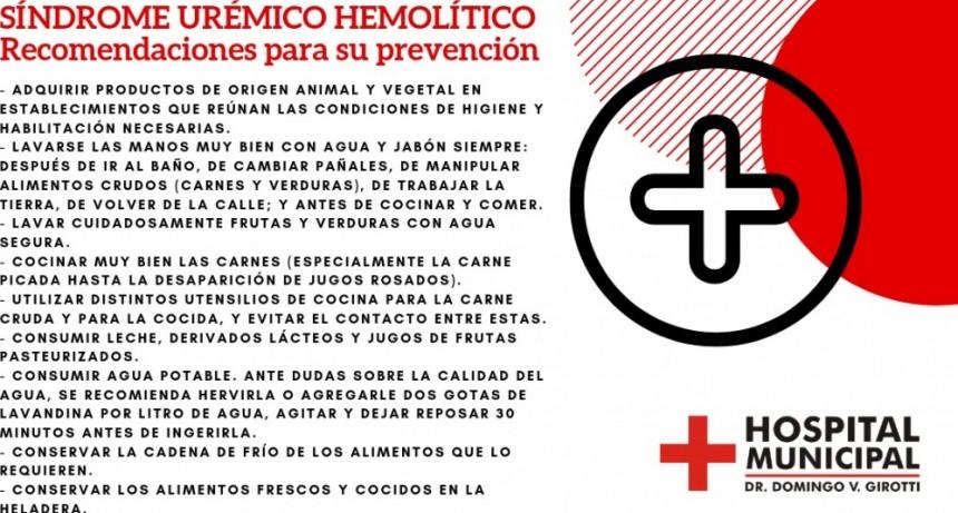 RECOMENDACIONES PARA PREVENIR EL SINDROME UREMICO HEMOLITICO