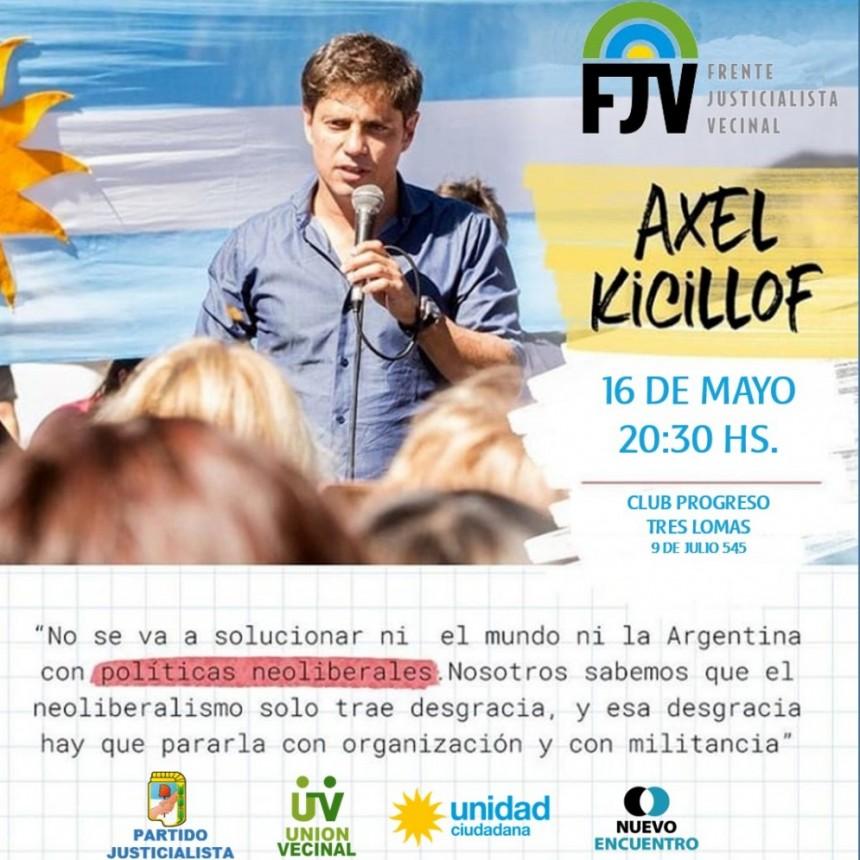 AXEL KICILLOF VISITARA TRES LOMAS EL PROXIMO JUEVES