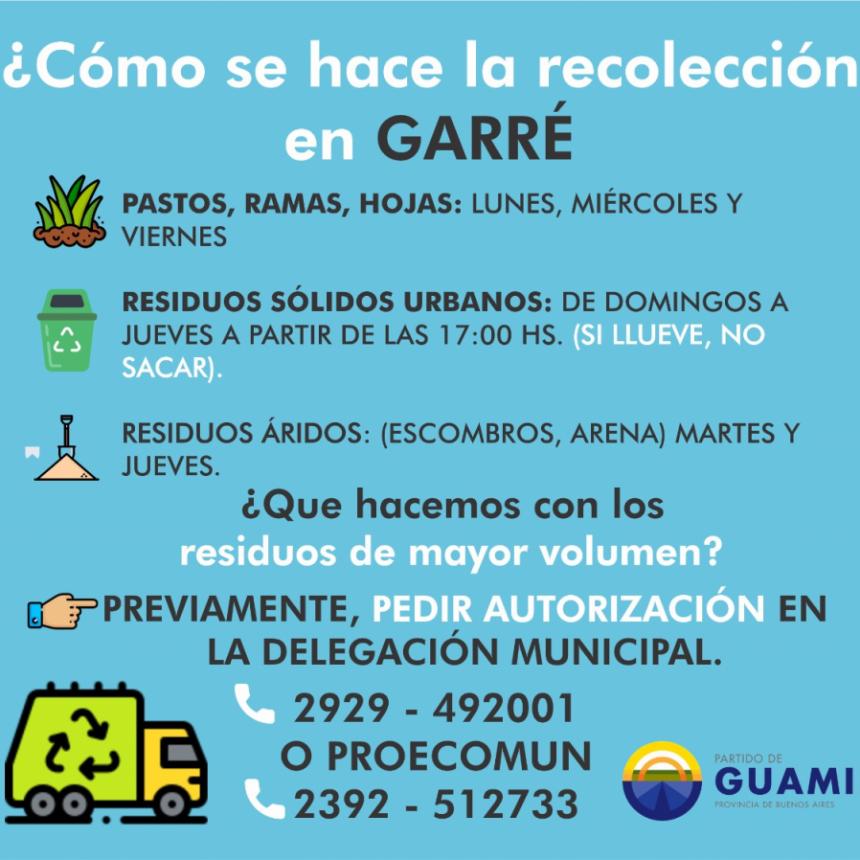 RECOLECCIÓN DE RESIDUOS EN GARRÉ