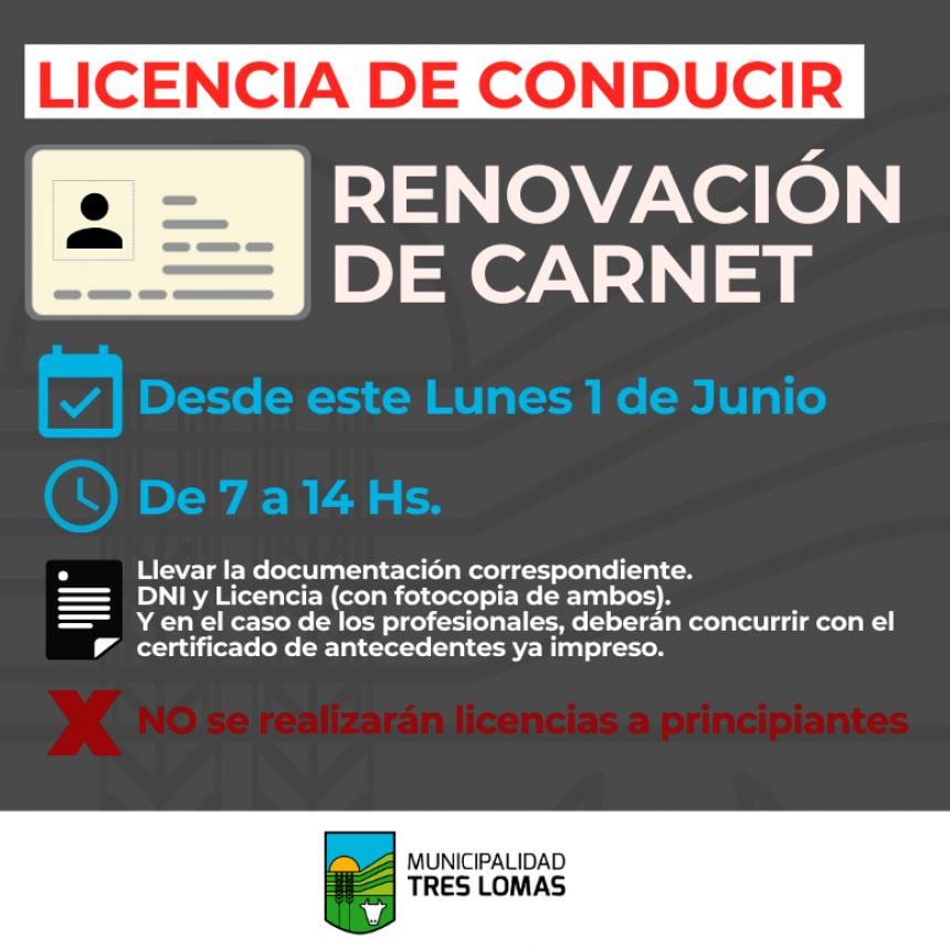 VUELVE LA ATENCIÓN DE LA OFICINA DE LICENCIA DE CONDUCIR PARA RENOVACIÓN DE CARNET