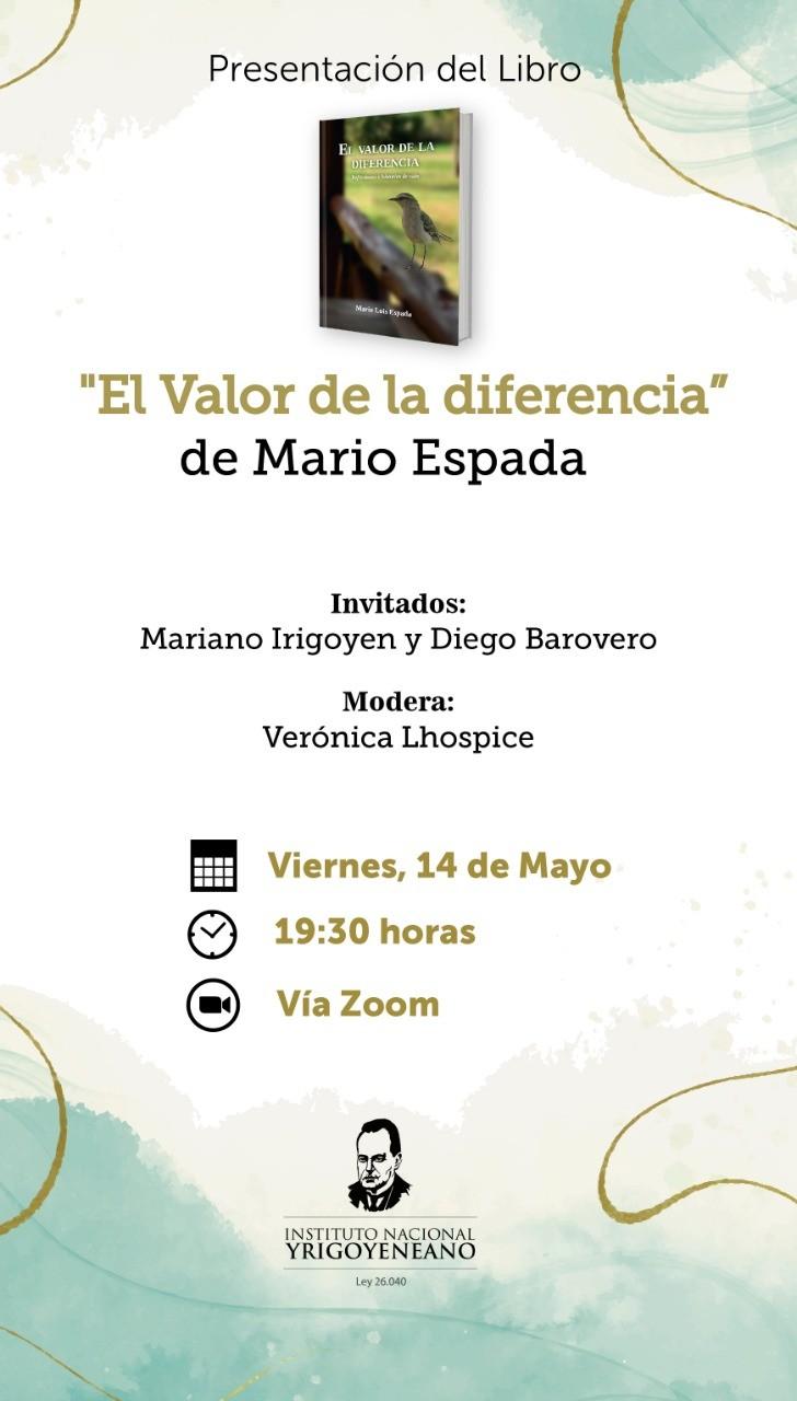 MARIO ESPADA PRESENTA SU LIBRO EL VIERNES 14