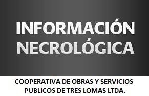 Cooperativa de Servicios Públicos - NOTA NECROLOGICA
