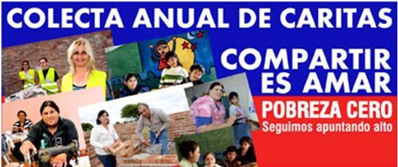 Sábado 7  y Domingo 8 - COLECTA ANUAL DE `CARITAS'