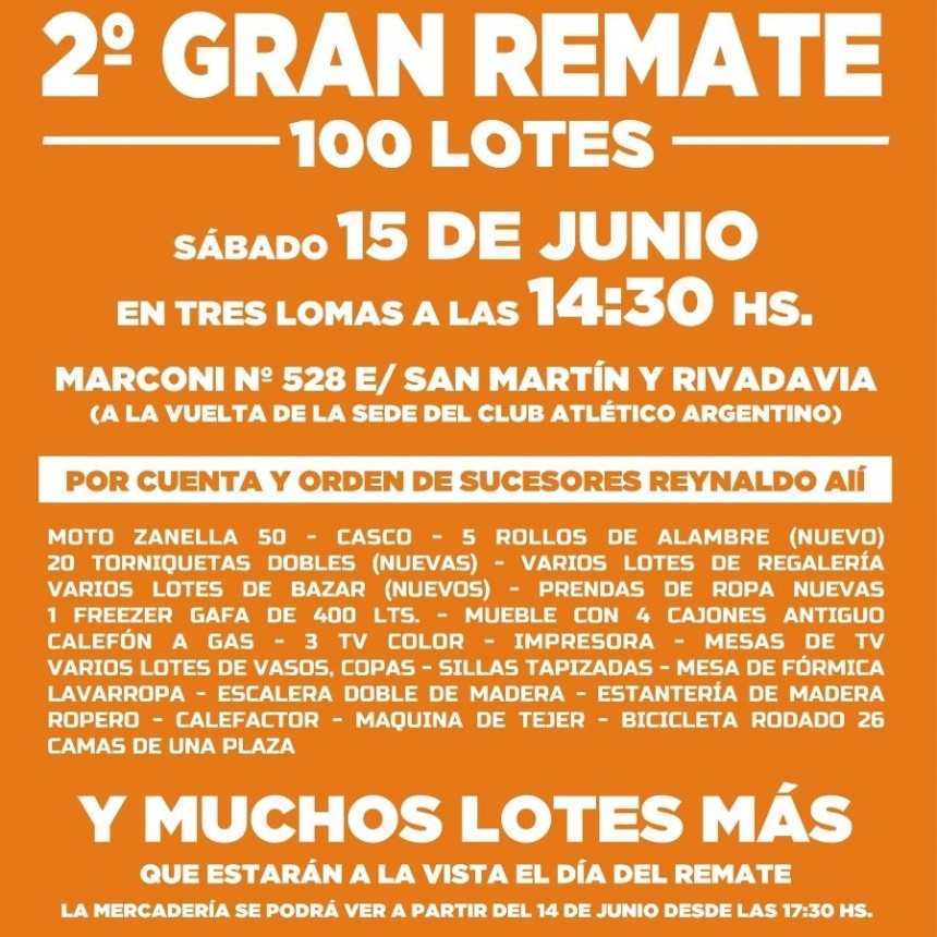 2º GRAN REMATE EN TRES LOMAS DE JOSE MANUEL SAN JUAN