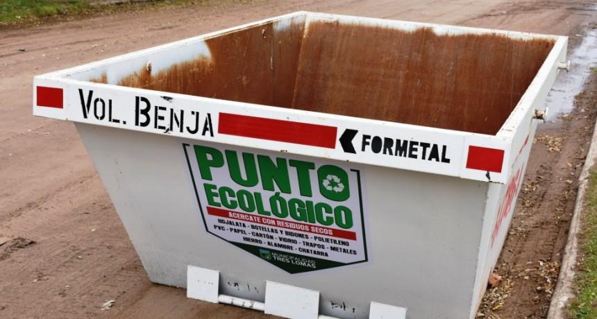 EL MUNICIPIO COLOCO VOLQUETES PARA JUNTAR RESIDUOS SECOS
