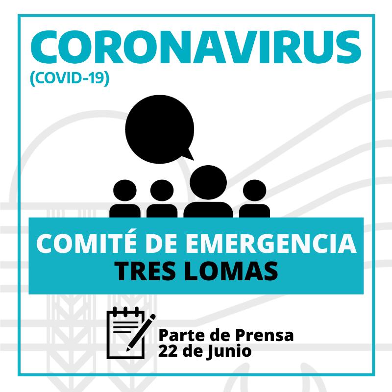TRES LOMAS A FASE 3: SE REUNIÓ EL COMITÉ DE EMERGENCIA.