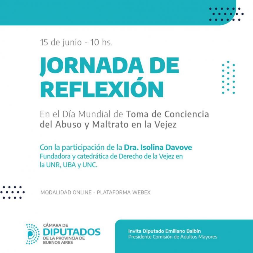 JORNADA DE REFLEXIÓN SOBRE EL ABUSO Y MALTRATO EN LA VEJEZ