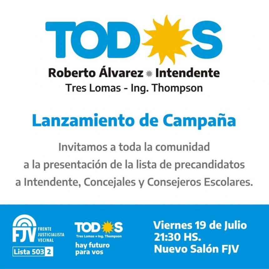 EL FRENTE DE TODOS ESTRENA LOCAL Y LANZA LA CAMPAÑA