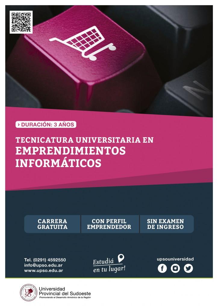 LA UPSO DICTARA EN EL 2021 LA TECNICATURA EN EMPRENDIMIENTOS INFORMATICOS