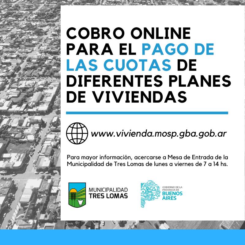 COBRO ONLINE PARA EL PAGO DE LAS CUOTAS DE DIFERENTES PLANES DE VIVIENDAS