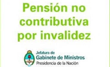 ACTUALIZARAN DOCUMENTACION DE TITULARES DE PENSIONES NO CONTRIBUTIVAS POR INVALIDEZ