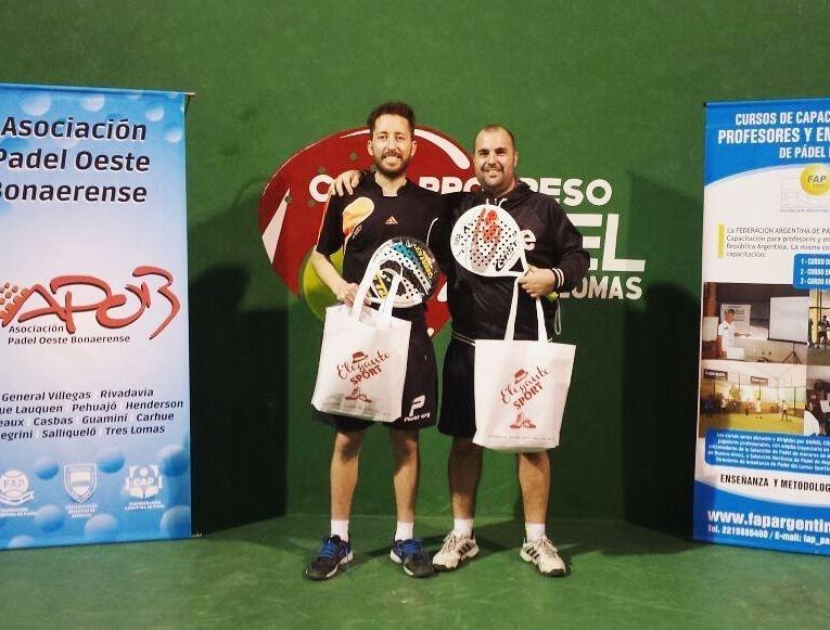 NICOLAS GARCIA Y JUAN FRANCISCO MARCH GANARON EL TORNEO DE PADEL DE 6TA. CATEGORIA