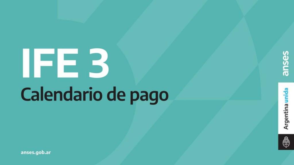 """CRONOGRAMA DE PAGO DE LA SEGUNDA ETAPA DEL """"IFE 3"""""""