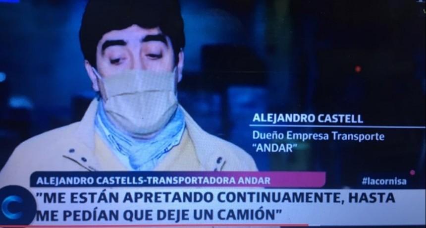"""ALEJANDRO CASTELL: """"LLEGARON A DECIRME QUE LES DEJE UN CAMION Y ARREGLAMOS TODO"""""""