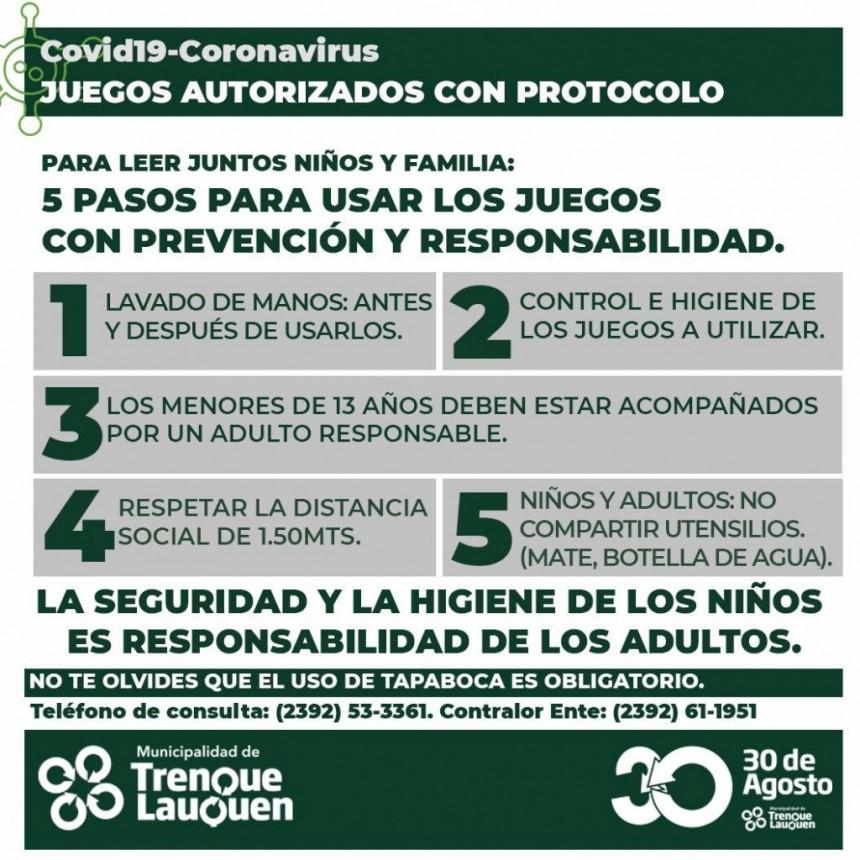 TREINTA DE AGOSTO AUTORIZÓ JUEGOS Y ESPACIOS PÚBLICOS