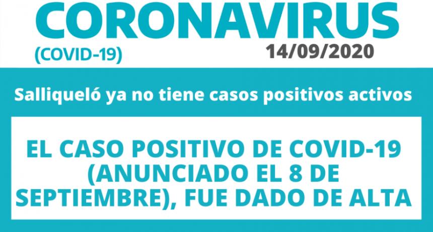 SALLIQUELÓ YA NO TIENE CASOS POSITIVOS ACTIVOS DE COVID-19