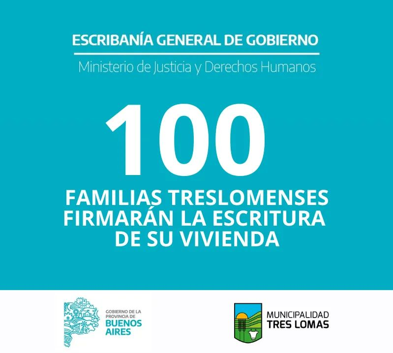100 FAMILIAS TRESLOMENSES FIRMARÁN LA ESCRITURA DE SU VIVIENDA