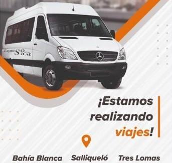 EXPRESO SICA. SERVICIO PUERTA A PUERTA QUE UNE TRES LOMAS, SALLIQUELO Y BAHIA BLANCA