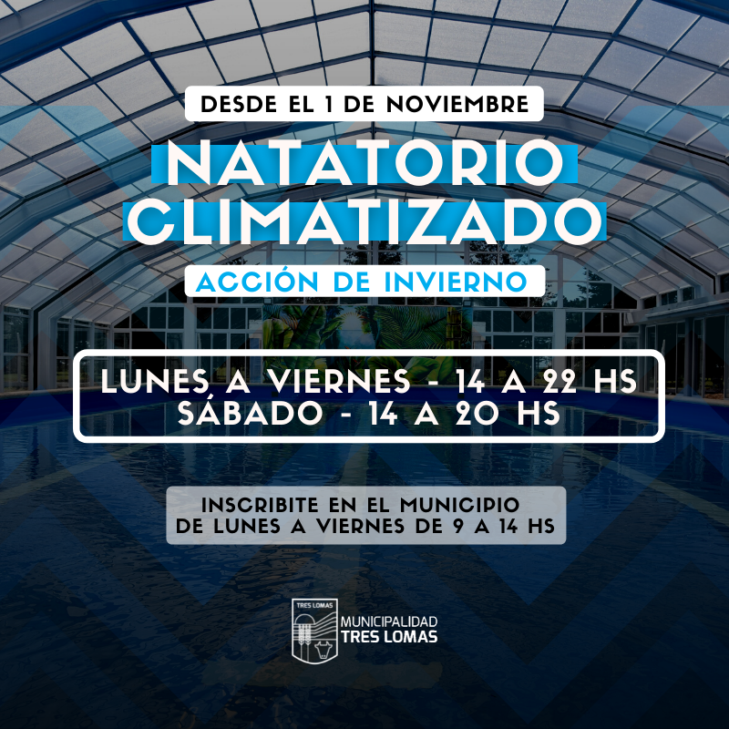 SE PONE EN MARCHA LA ACCIÓN DE INVIERNO DEL NATATORIO CLIMATIZADO